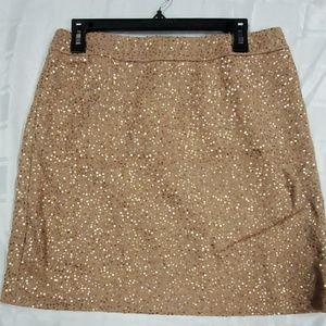 LOFT Beige sequin Skirt - Size 8